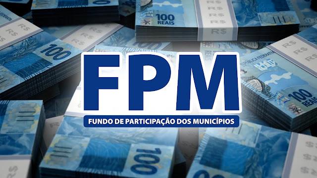 O repasse do 1º decêndio do FPM ocorre na próxima quinta-feira 10 de outubro