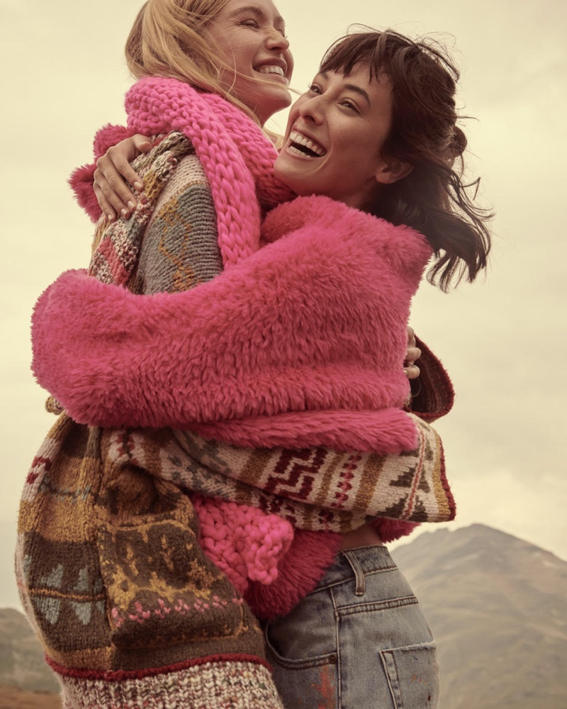 Sweater styles take the spotlight in Free People holiday 2019 campaign