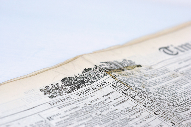 Genuine Victorian Newspaper for sale