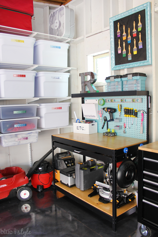 Organized work bench