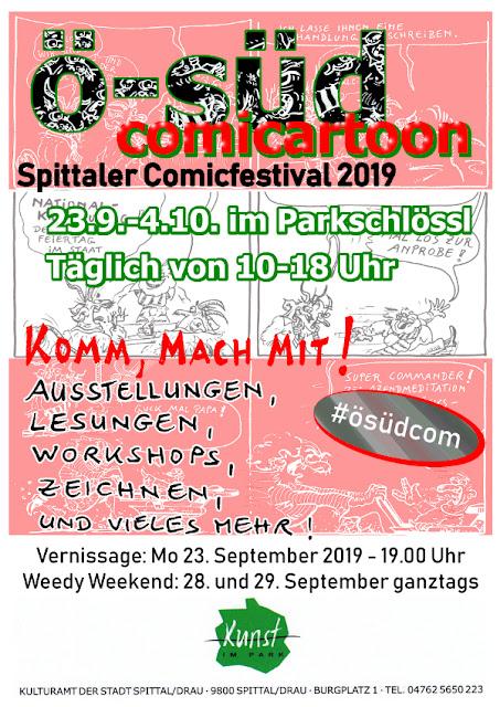 Comics, Cartoons und Karikaturen auf der ösüdcom2019