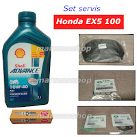 gambar minyak shell ax7,plug,air filter,gasket karburator ex5