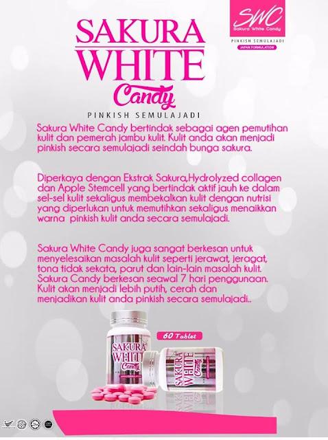 Putih Gebu Dengan Sakura White Candy