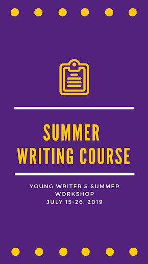 Nash's best young writers from all grades wanted for writing workshop