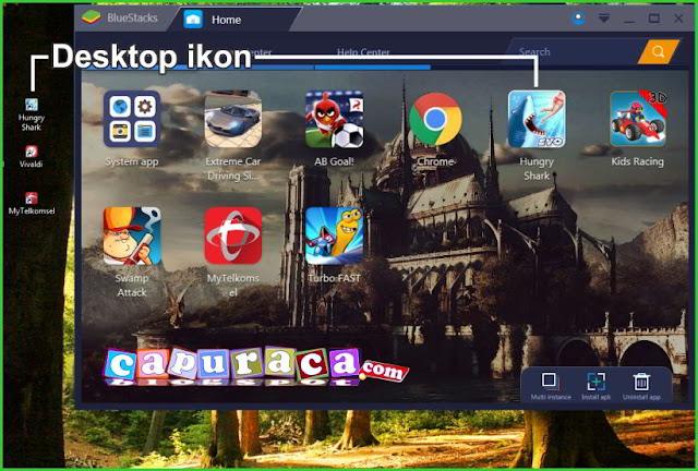 Setting Bluestakcs agar tidak buat Shortcut di Desktop