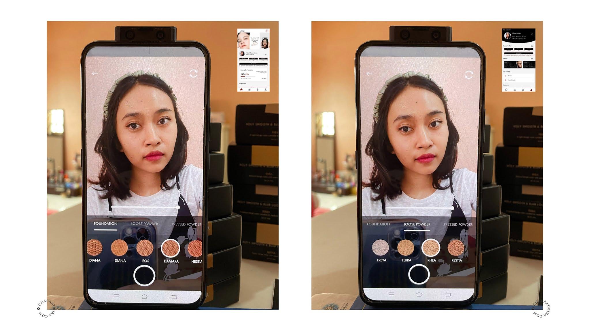 Looke Cosmetics Apps di Android dan iOS
