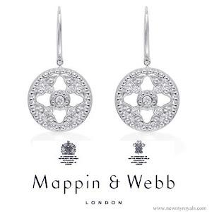 Kate Middleton waer Mappin & Webb Empress Drop Earrings