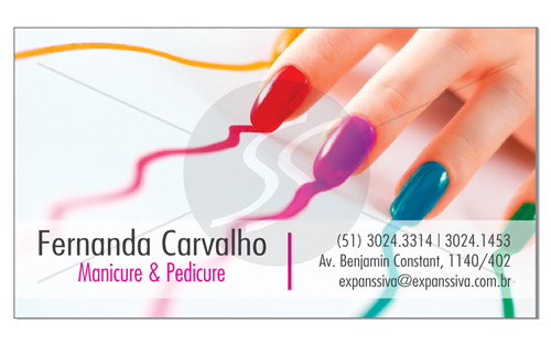 M1906 cartoes de visita manicure - Cartões de Visita para Manicure e Pedicure