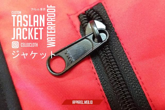 Custom Bikin Jacket Taslan Outdoor Premium Resleting YKK - Konveksi Jacket Waterproof