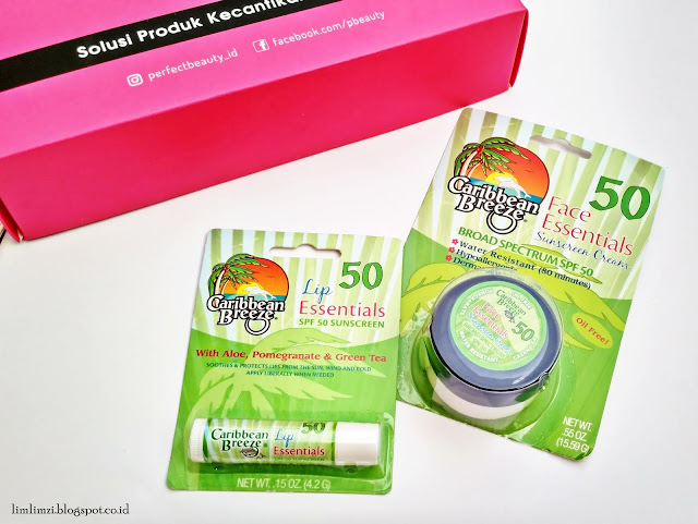 Perfect Beauty Box Caribbean Breeze (Face Sunblock SPF 50 dan Lipbalm SPF 50)