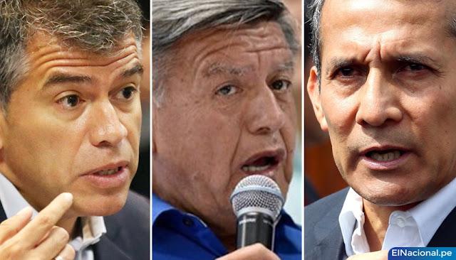 Julio Guzmán, César Acuña, Ollanta Humala