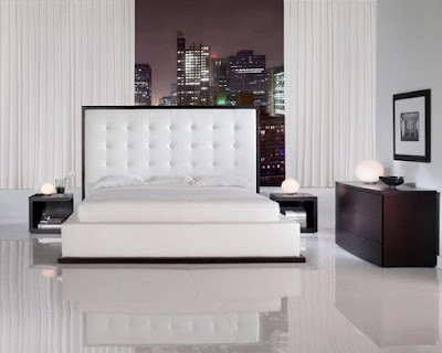 clear white marble floor for bedroom
