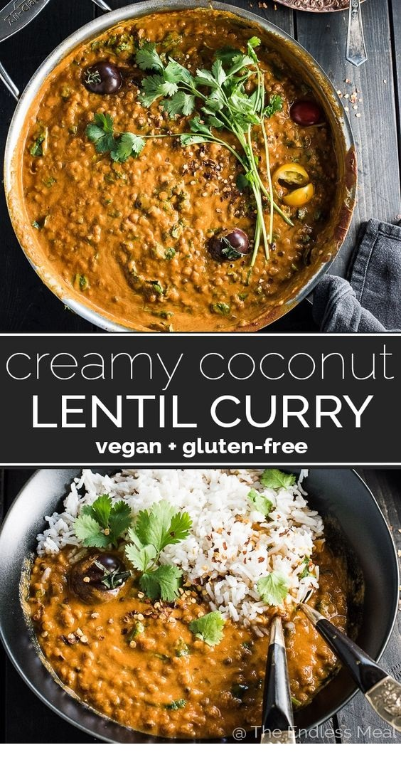 VEGAN RECIPES | Creamy Coconut Lentil Curry