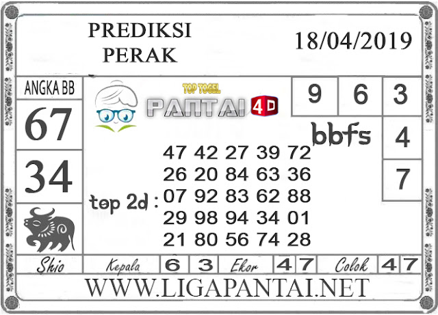 """Prediksi Togel """"PERAK"""" PANTAI4D 18 APRIL 2019"""