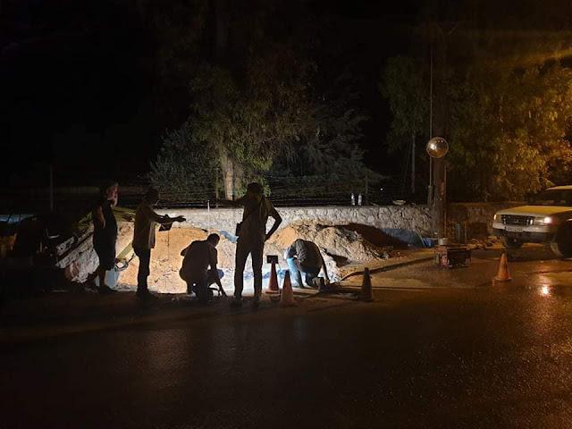 Αποκαταστάθηκε αργά τη νύχτα η βλάβη σε αγωγό της ΔΕΥΑ Ναυπλίου
