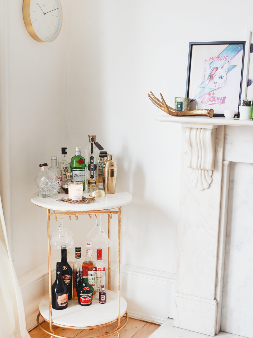 Bar Cart Inspiration for Small Spaces | Organized Mess