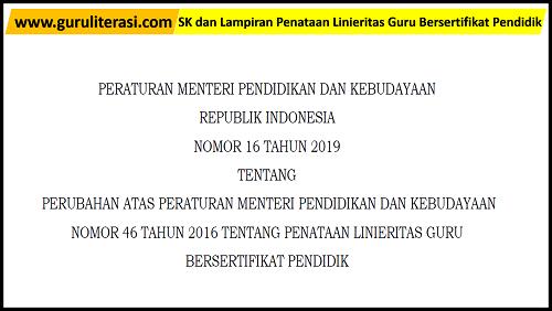 SK dan Lampiran Penataan Linieritas Guru Bersertifikat Pendidik