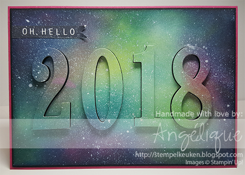 de Stempelkeuken - Stampin' Up! producten koopt u bij de Stempelkeuken http://stempelkeuken.blogspot.com #newyear #2018 #happy2018 #stampinup #stampinupNL #stempelkeuken #galaxy #galaxycard #eclipsecard #stamping #cardmaking #papercrafting #kaartenmaken #hello2018 #nieuwjaar #oudwordtnieuw #diy #stampingfun #stempelen #denhaag #westland #inkt #largenumberframelits #framelits #creatief #kreativ #creative