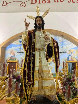 Piadoso Via Crucis con la Imagen de Nuestro Padre Jesús de la Sagrada Cena de Sanlucar de Barrameda hoy