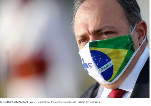 Brazil's health minister is sick of a suspected case of COVID-19