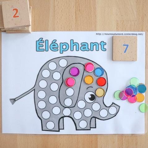 activité sur le thème de l'elephant