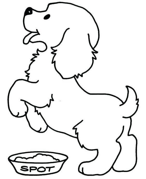 Hình tô màu con chó vui mừng