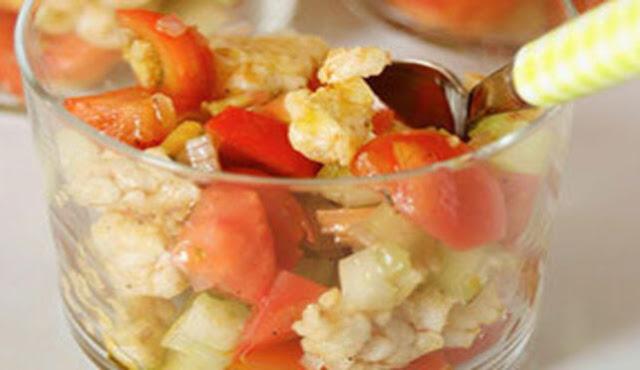 La finta panzanella di riso, ricetta sena glutine