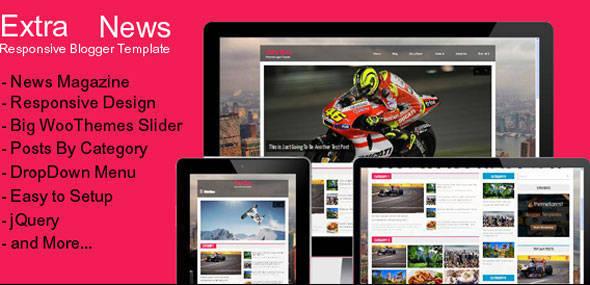 Extra News - Responsive Blogger Template - News Blog