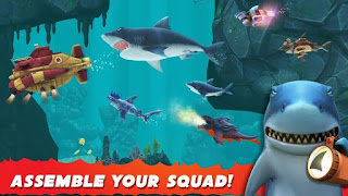 Hungry Shark Evolution v5.9.4 Mod Apk 2018 (Coins+Crystals)