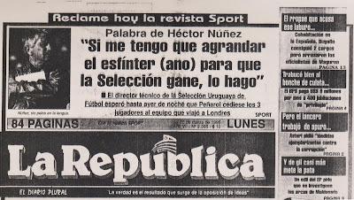 Pichón Núñez dispuesto a todo por la selección uruguaya
