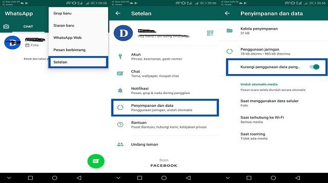 Cara Menghemat Data di WhatsApp