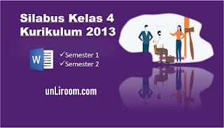 Download silabus kurikulum 2013 sd kelas 4 untuk semester 1 dan 2