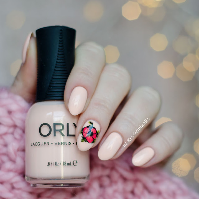 "Orly ""Cyber Peach"" swatch"