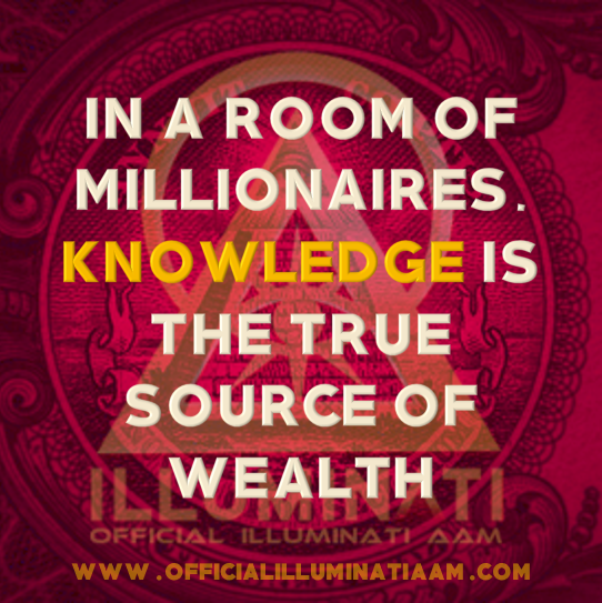 ILLUMINATI | PENSAMENTOS & REFLEXÕES - Em uma sala de milionários, o conhecimento é a verdadeira fonte de riqueza
