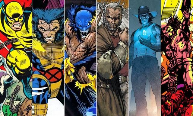Diferentes trajes y versiones alternativas de Wolverine (Lobezno)