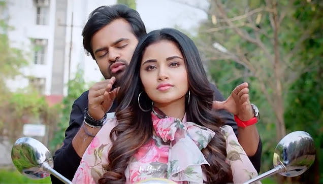 Tej I Love You (2018) is an Indian Telugu romantic film directed by A. Karunakaran in 2018. The film is produced by K.S. Rama Rao under the creative Commercials banner. The film is starred by Sai Dharam Tej and Anupama Parameswaran in the lead roles and Jayaprakash, Pavitra Lokesh, Anish Kuruvilla, Surekha Vani, Prudhvi Raj and others in some important roles. But here, the roles of Sai Dharam Tej and Anupama Parameswaran are very important.   Sai Dharam Tej and Anupama Parameswaran in Tej I Love You (2018) Movie    What a romantic drama film! I have watched several times this movie for its outstanding romance between Tej and Nandini. Here Sai Dharam Tej plays role as Tej. Not only in this movie but also in other acted movies, he plays his role as named Tej. I think it would be very easy to memorize the character in the same name. But the same names in different movies will help to misunderstand the audiences. However, Anupama, here plays her role as Nandini, a beautiful, talented young girl. Anyone will propose any time because they won't miss the moment. Bu in the movie, Tej is a person of some different kind character. He also falls in love at the first sight in the running train. But Nandini (Anupama) has bluffed him disguising her as blind girl. Here, a kind of sympathy is created in his mind. But when he saw her walking fast towards him without glass, he understood her bluffing. Then what would happen? In films, actually at first, quarrelling, and no tolerance to each other etc will happen. In this movie, these things also happened. But romance comes when they think their relationship is strong and trustworthy. But all are ended when Nandini conduces an accident. She loses her memory but for an indefinite duration. She can memorize her father, her mother but her mother is died which she cannot remember. Why does she come in India from London? She cannot remember. So, Tej thinks all are ended as she has forgotten their former relationship and he do not know that