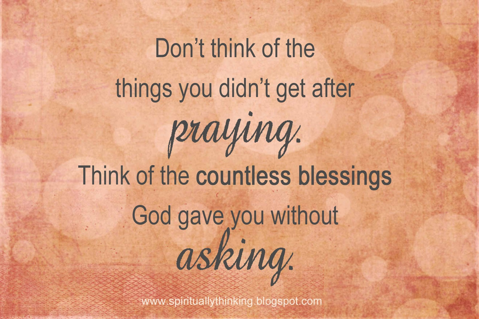 And Spiritually Speaking: Receiving Without Asking