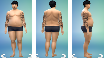 Sims 4 Overweight Male