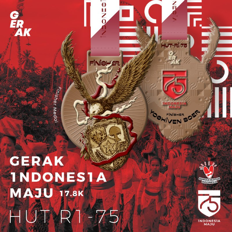 Gerak Indonesia Maju - HUT RI-75 ∙ Virtual Run • 2020