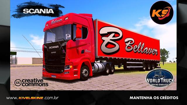 SCANIA S730 - BELLAVER TRANSPORTES VERMELHA