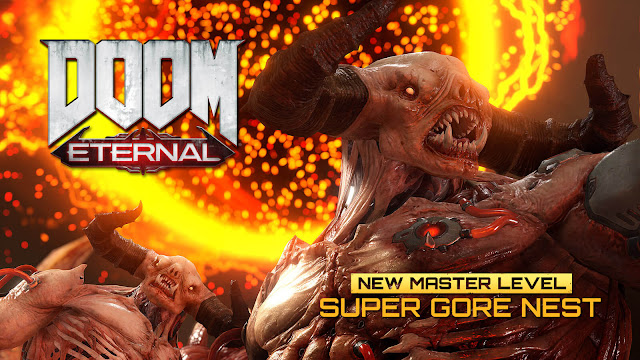 doom eternal update 4 live super gore nest master level mode 2020 first-person shooter game id software bethesda steam pc ps4 ps5 stadia xb1 xsx