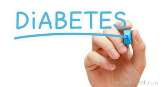The word diabetes written