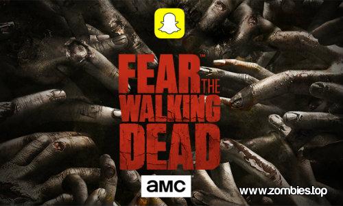 Snapchat crea filtros de Fear The Walking Dead