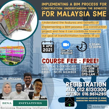IMPLEMENTING A BIM PROCESS FOR CONSTRUCTION: UNDERSTANDING THE BENEFITS FOR MALAYSIA SME (BIM/2021).