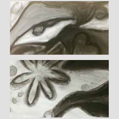 Abstract Charcoal Drawings