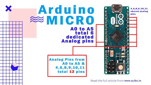 Analog pin of Arduino Micro