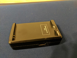 Note 3 spare battery wall travel charger from Amazon. USB 2 port side.