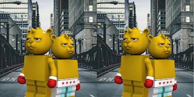 Bear & Square Mini Figure Set by JC Rivera x Pobber
