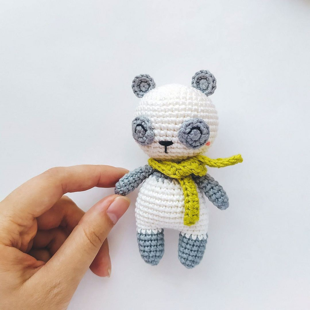 Adorable Panda Bear Amigurumi FREE Crochet Pattern | 1080x1080