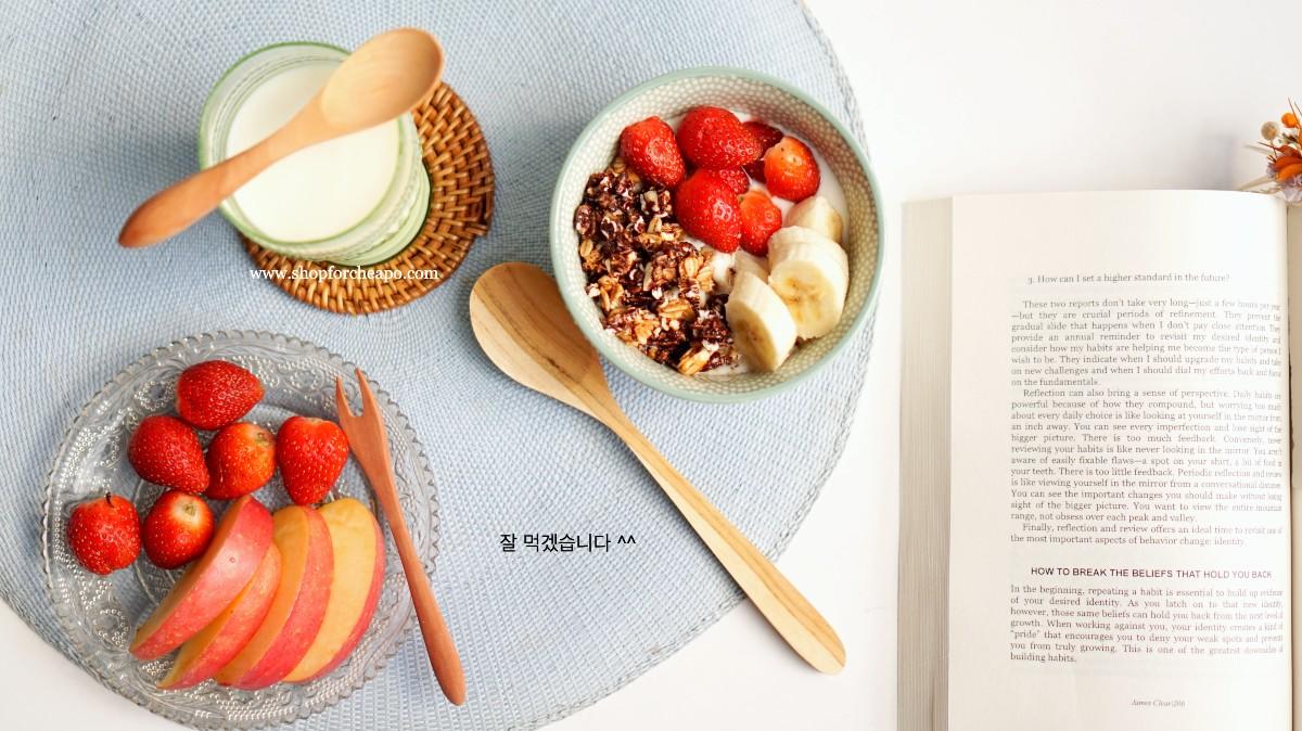 breakfast dengan sendok kayu ala korea